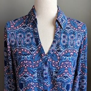 Express Paisley Print Portofino Shirt